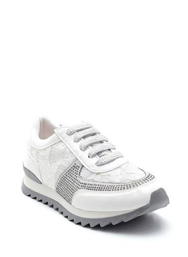 Derimod Kadın Dantel Detaylı Sneaker Beyaz